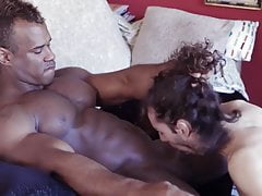 Curly Haired Guy Fucks Black Cock