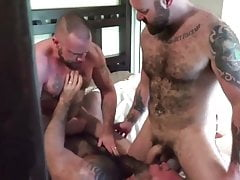 2 Muscle Bear Daddies Bare Fuck a Cub