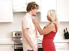 Hungry mature mom sucks and fucks lucky son