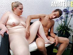AmateurEuro - Sexy Deutsche BBW Teen Anna K.Hard Sex Outdoor