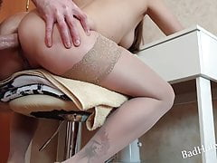 Baby squirts from anal sex. BadAnalQueen